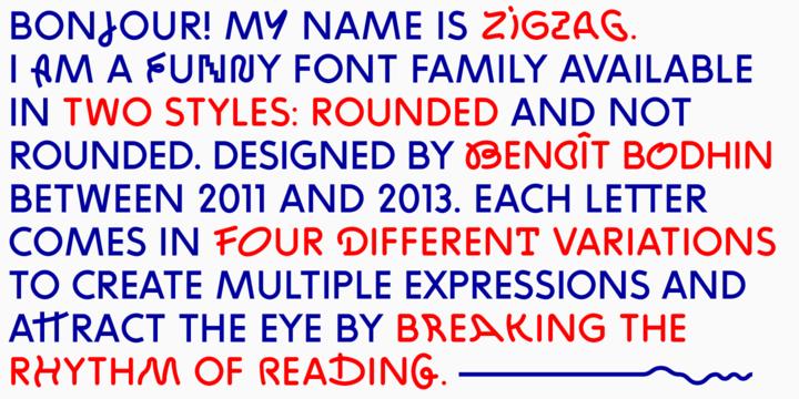 ZIGZAG font faminy - iFonts xyz