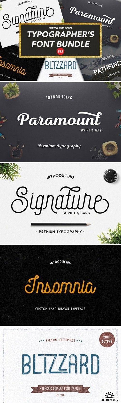 Typographer's Font Bundle