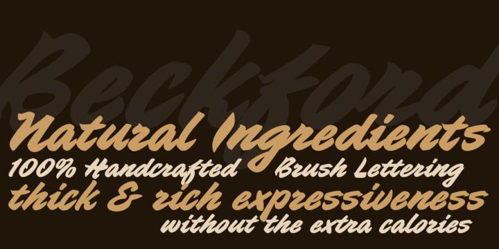 Beckford Script Font Family