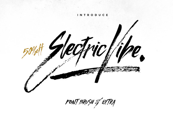 Electric Vibe Font on electrical links