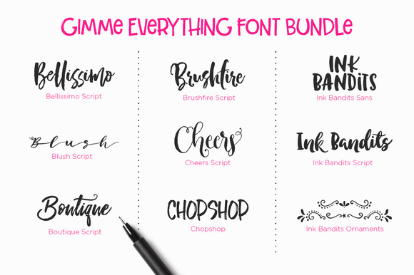 Gimme Everything Font Bundle