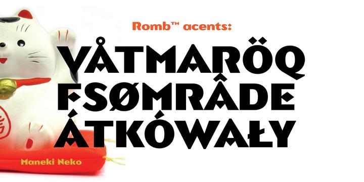 Romb™ Font