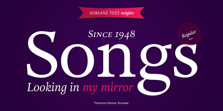 Adriane Text Font Family