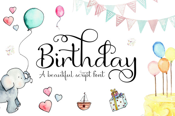 Birthday font ifonts birthday font bookmarktalkfo Choice Image