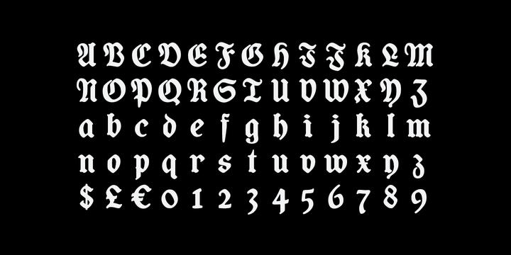Coop Blackletter Font
