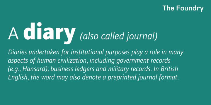 Foundry Journal Font Family
