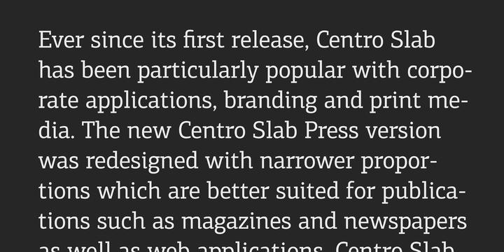 PF Centro Slab Press Font Family