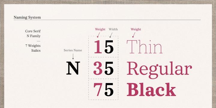 Core Serif N Font Family