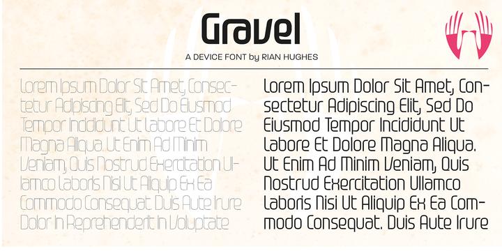 Gravel Font Family
