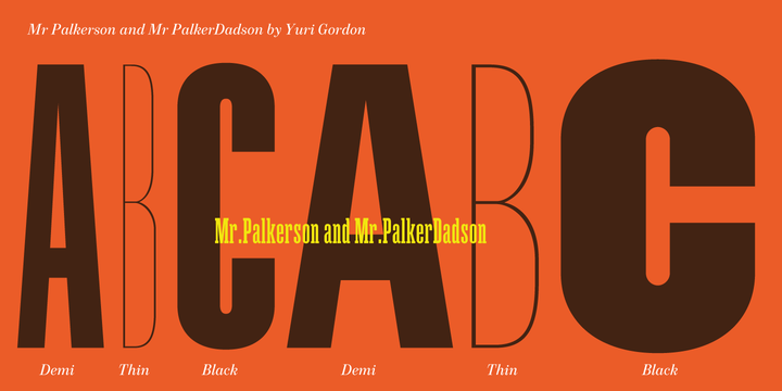 Mr Palker Dadson Font Family