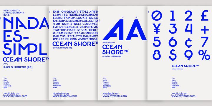 Oceanshore Font Family