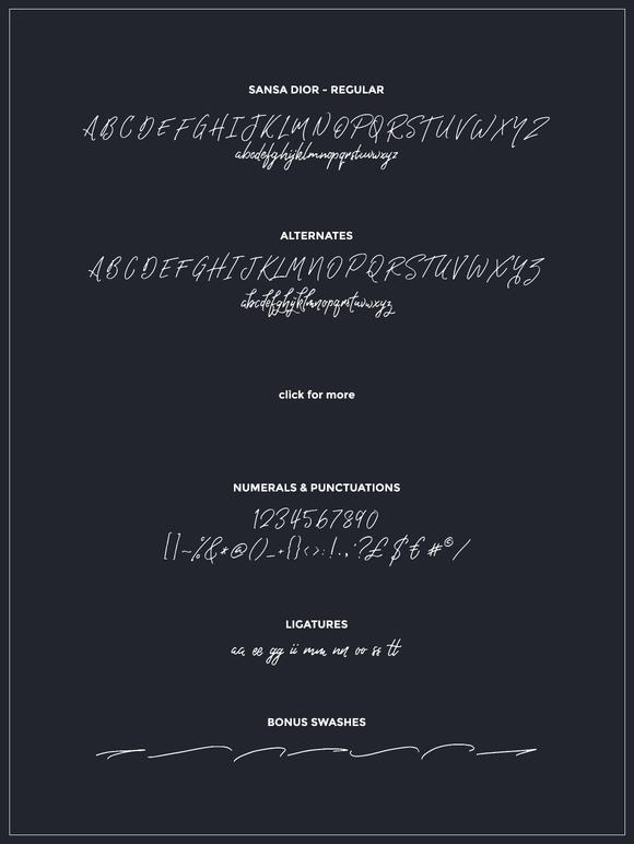 Sansa Dior Font