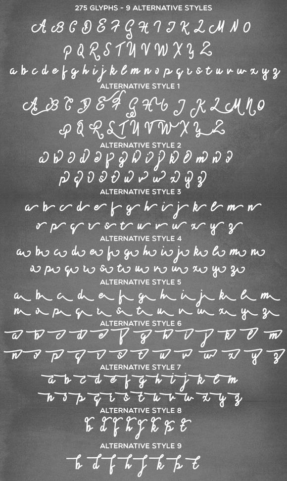 Ewelvian Script Font