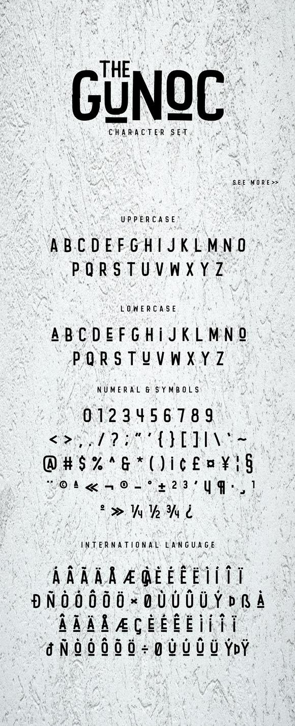 Gunoc Display Font