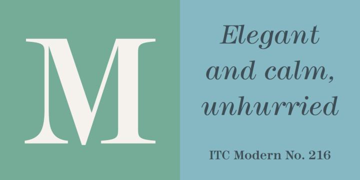ITC Modern No. 216 Font Family