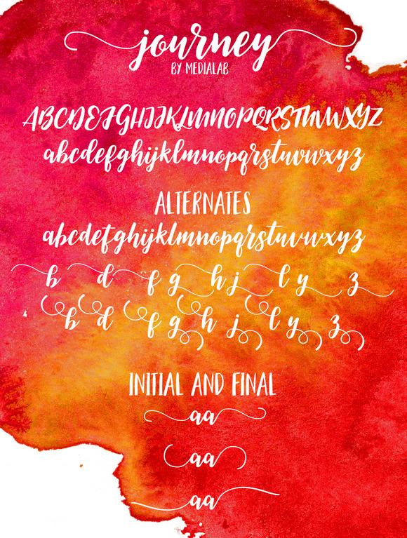 Journey Script Font