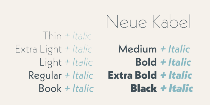 Neue Kabel Font Family