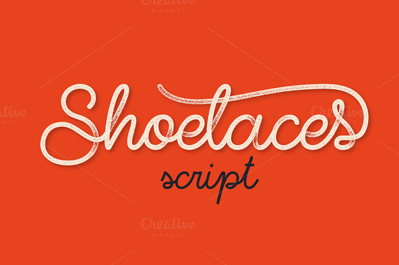 shoelaces font