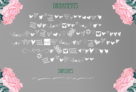 Sweetlove (Font Family + Bonus)