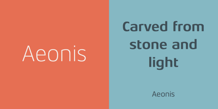 Aeonis™ font family