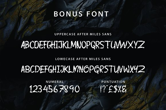 After Miles Display Font
