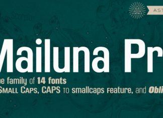 Mailuna Pro AOE Font Family