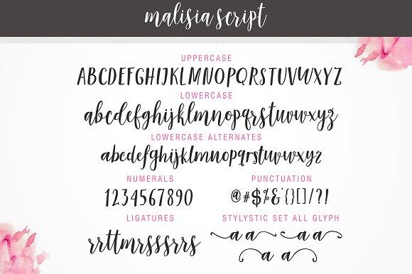 Malisia Script Font