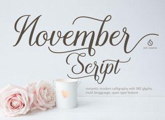 November Script Font