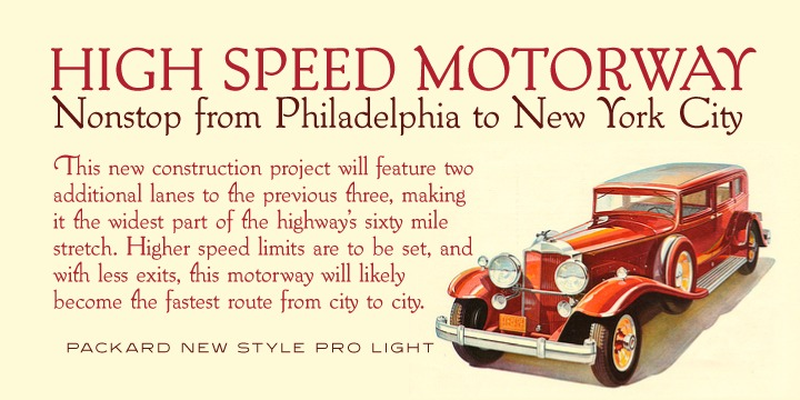 Packard New Style Font Family