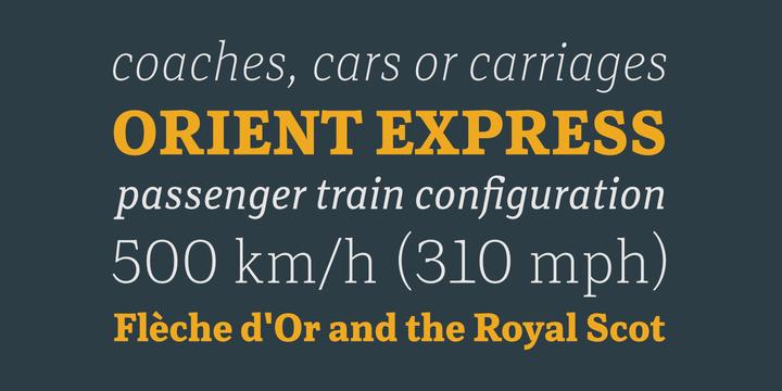 Rail Font Family