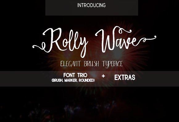 Rolly Wave Script Font