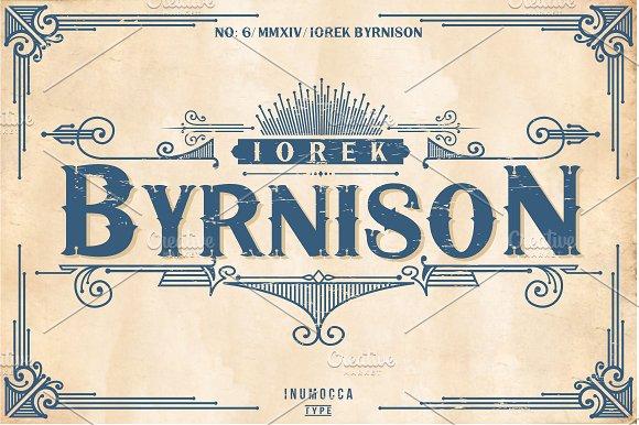 5 Typeface vintage bundle