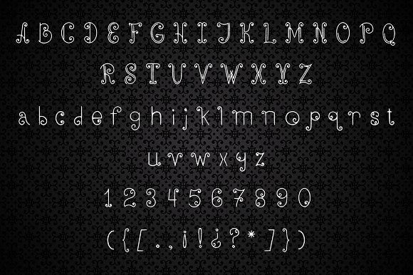 ElfLine decorative style font