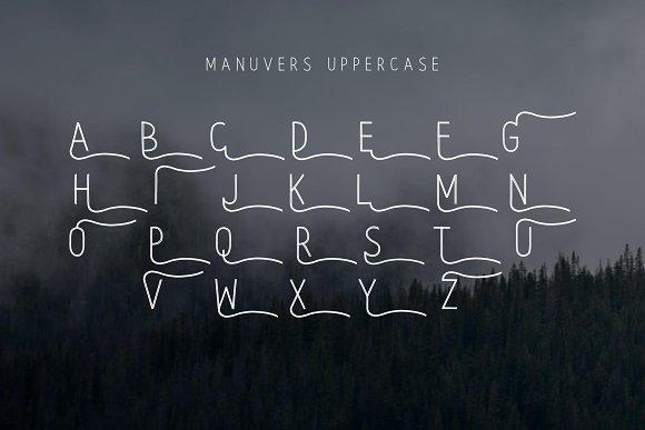 Manuvers - Handmade Sans Font