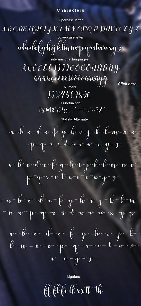 Median Script Font