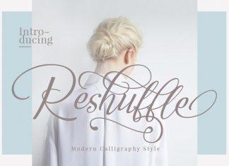 Reshuffle Script Font Set