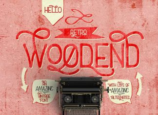 Woodend Retro Font