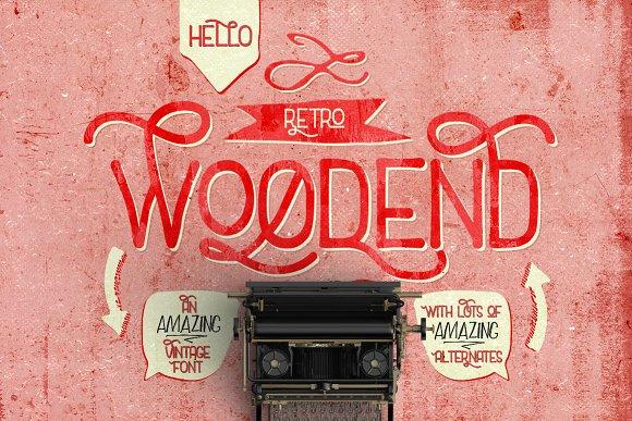Woodend Retro Font