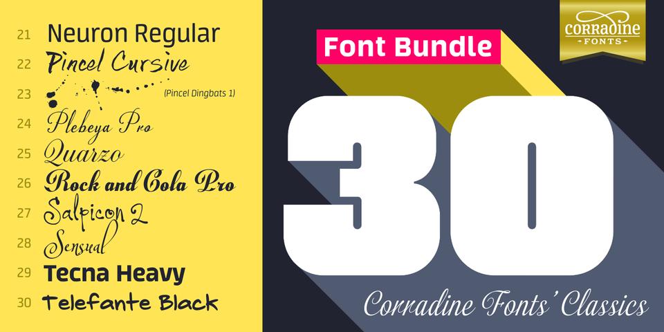 Corradine Fonts' Bestsellers Font Bundle