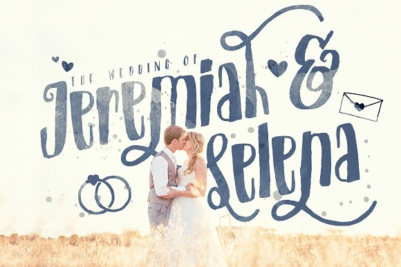 Just Married! Wedding Pack Font Bundle
