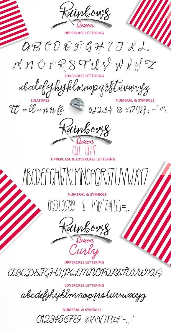 Rainbows Queen Typefaces