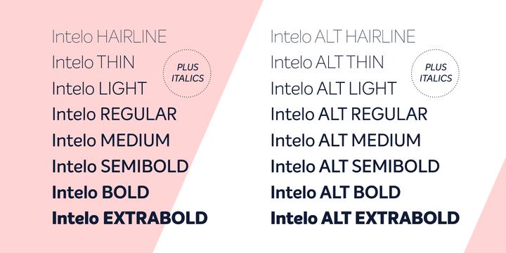 Intelo Font Family