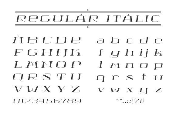 MONA LISA Serif Font Family