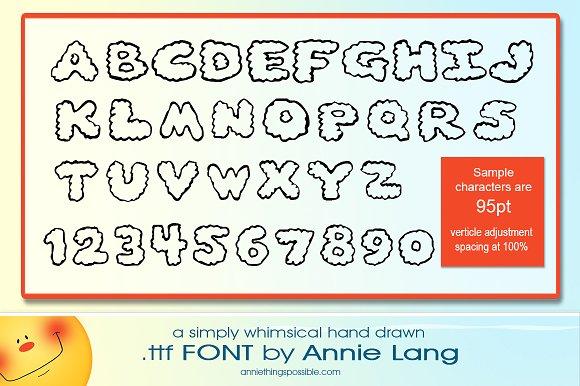 Annie's Clouds Font