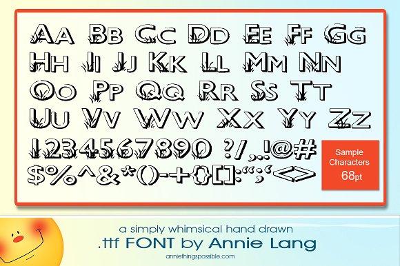 Annie's Grass Font