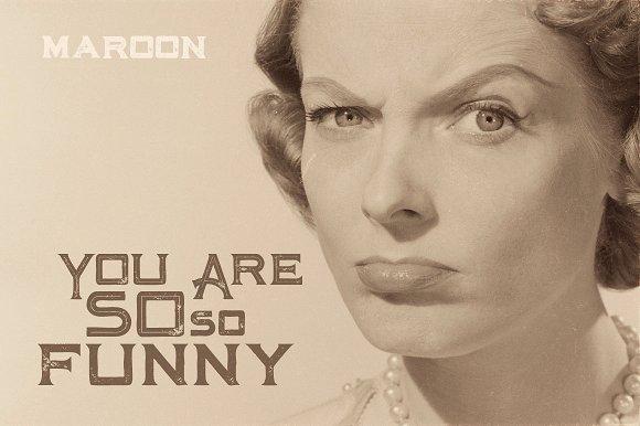 Maroon - Vintage Style Font