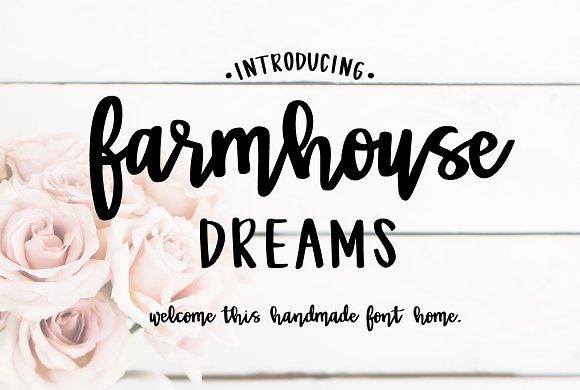 Farmhouse Dreams Script Ifonts Xyz