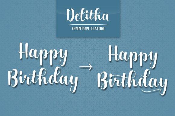 Delitha Script Font