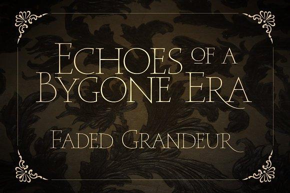 Faded Grandeur - 4 All Caps Fonts - iFonts xyz