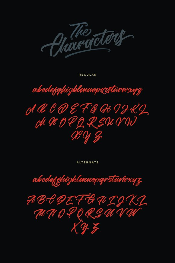 Goliath script font